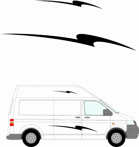 (No.234) MOTORHOME GRAPHICS STICKERS DECALS CAMPER VAN CARAVAN UNIVERSAL FITTING